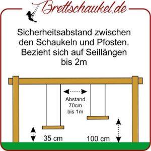 Höhe der Brettschaukel